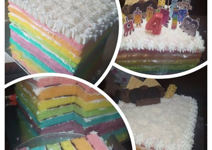 Rainbow cake / tart rainbow (pelangi)