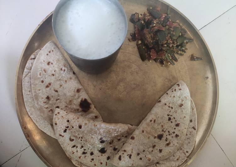 How to Make Perfect Bhindi masala with chapati