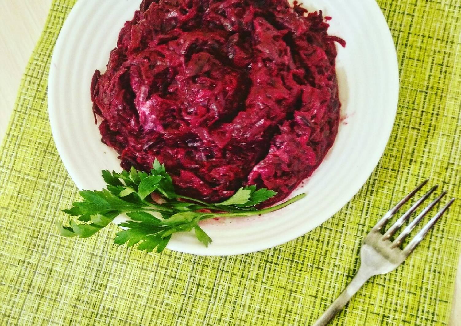 этом сама салат кусковой из свеклы рецепт с фото для