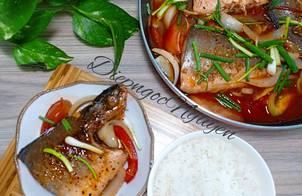 Cá cam kho cà chua (Biến tấu cách kho cá cùng gia vị Nhật)