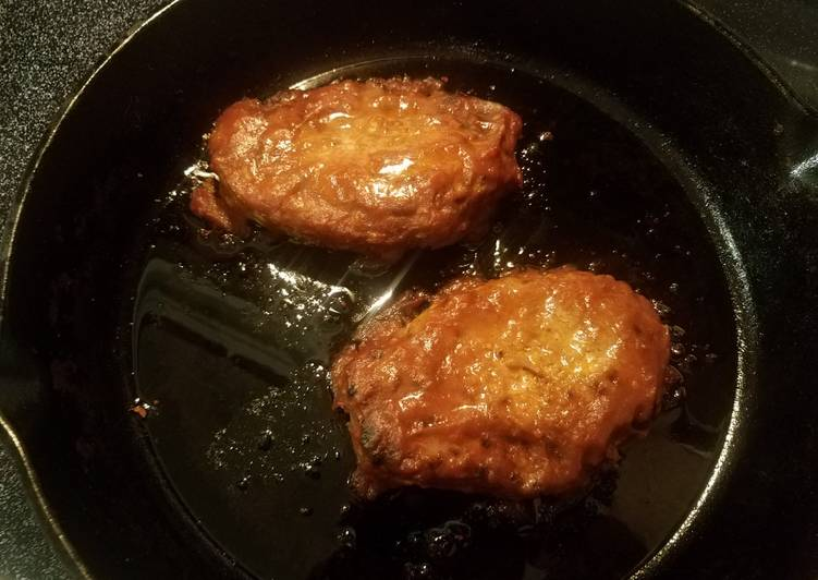 Recipe: Tasty Seared Pork Chops with Apple Butter BBQ Sauce