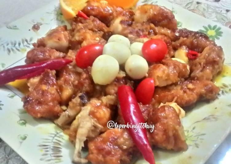 Resep Crispy Honey Lemon Chicken Ayam Krispi Saus Lemon Madu Oleh Laperbingits Kuy Cookpad