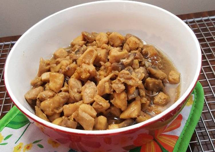 Resep Ayam Jamur (untuk topping Bakmie / isian Bakpao) Top