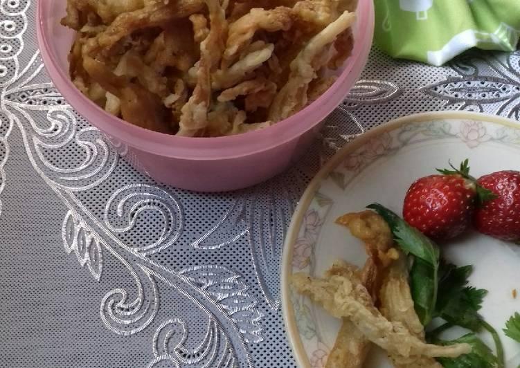 Goreng Jamur Tiram Krispi