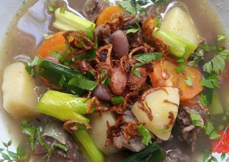 Sup Brenebon Manado / Sup Daging Kacang Merah