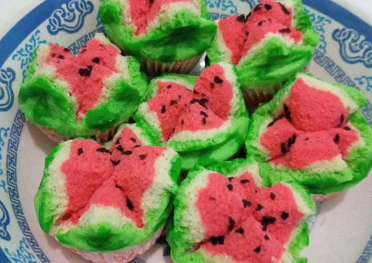 Resep Roti kukus semangka Bikin Jadi Laper