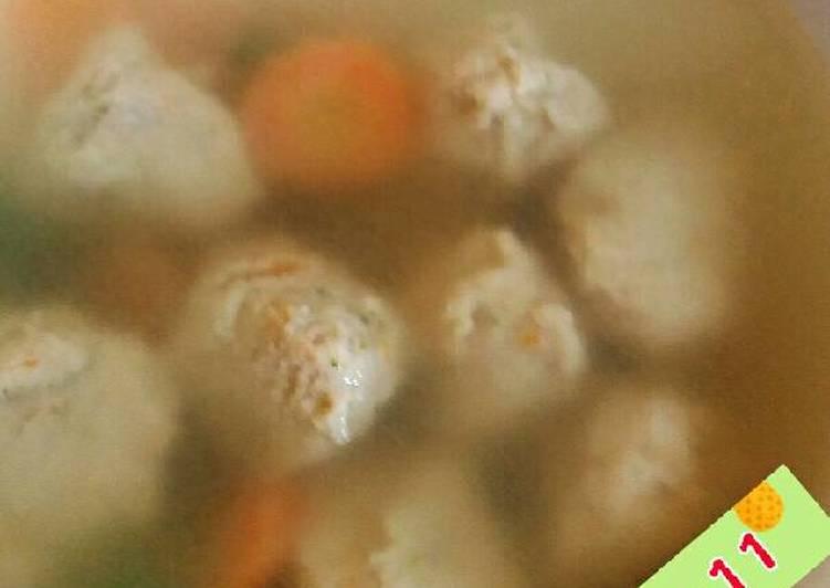 Baso Sapi Mix Ayam + Tofu Udang untuk BaSaTa (Bayi 1 tahun +) ku