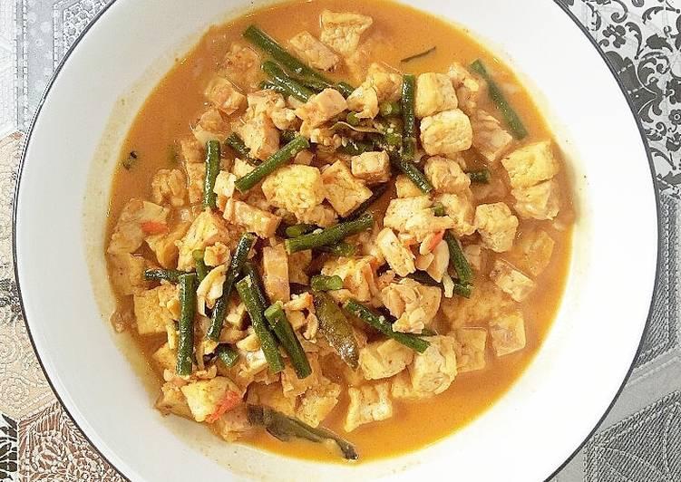 Tahu Tempe Kacang Panjang with Gulai Sauce
