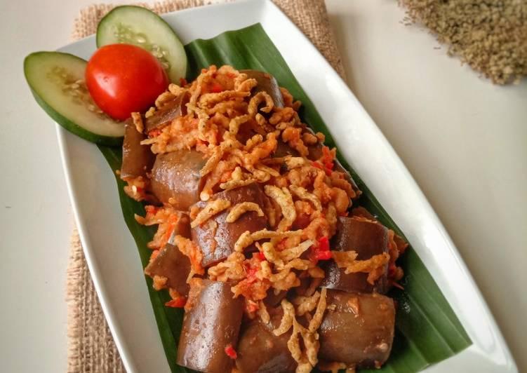 Resep Sambal Balado Terong Feat Ikan Lempuk Crispy Oleh Mami Kenzie Cookpad