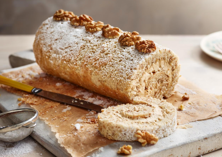 Easiest Way to Cook Delicious Coffee & Walnut Swiss Roll