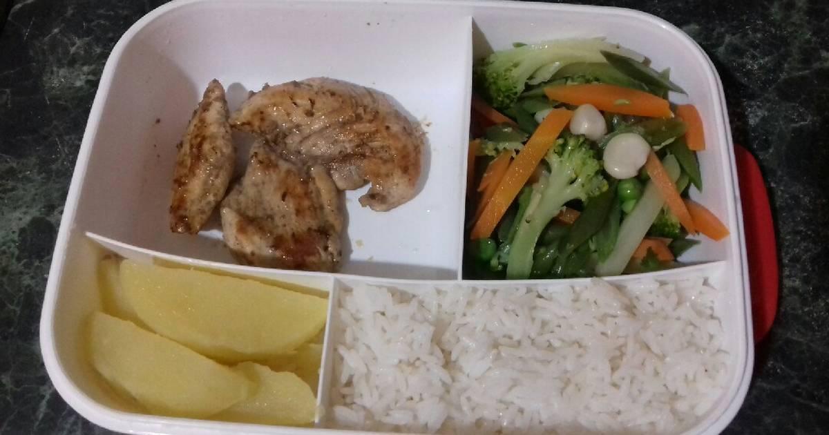 Arroz con pollo y zanahoria dieta blanda