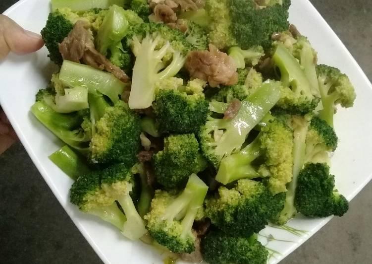Oseng brokoli saos tiram