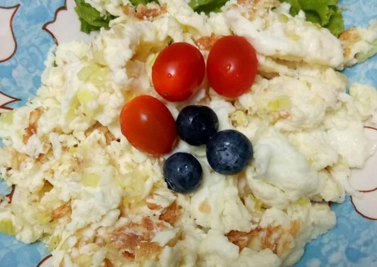 Orak Arik Telur Putih - Sarapan sehat