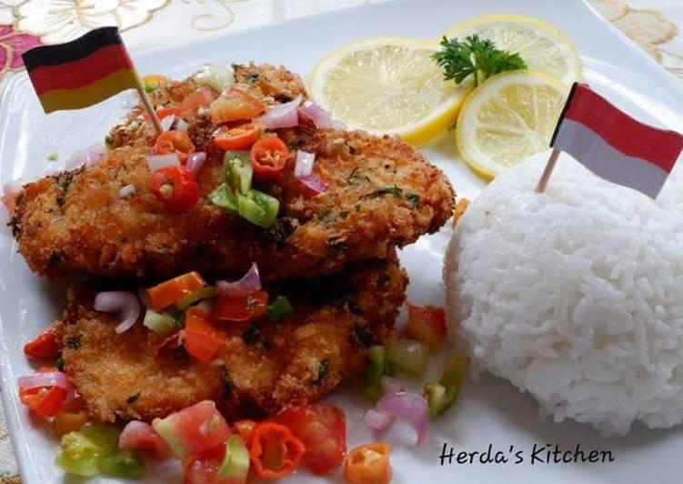 Resep Chicken Schnitzel With Dabu Dabu Sauce Oleh Herda S Kitchen Cookpad