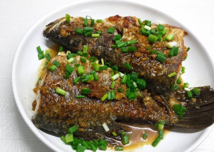Ikan kakap putih goreng