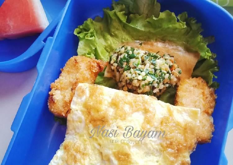 Nasi Bayam Saos Mentega (Sayur Ngumpet)
