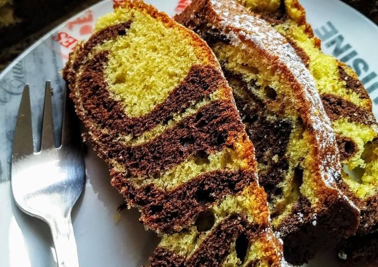 Gâteau marbré au yaourt