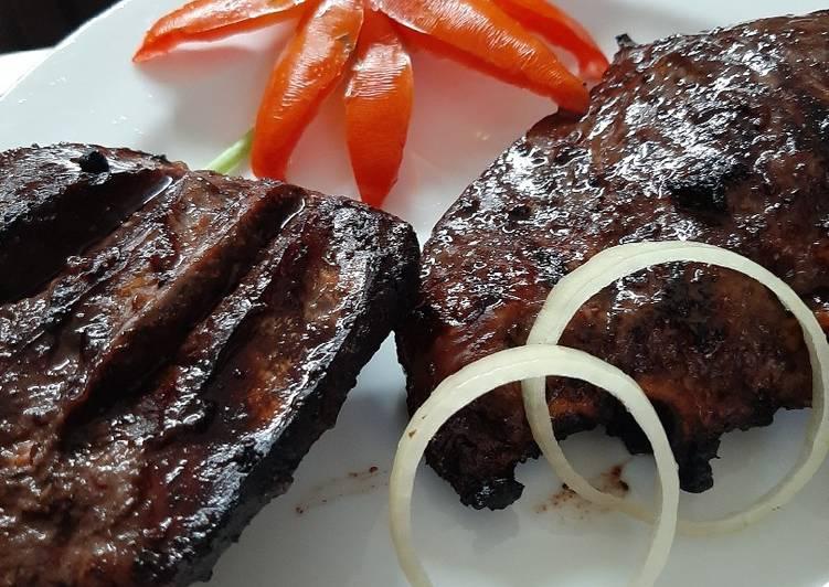 Steak Jantung Sapi Saus Mentega