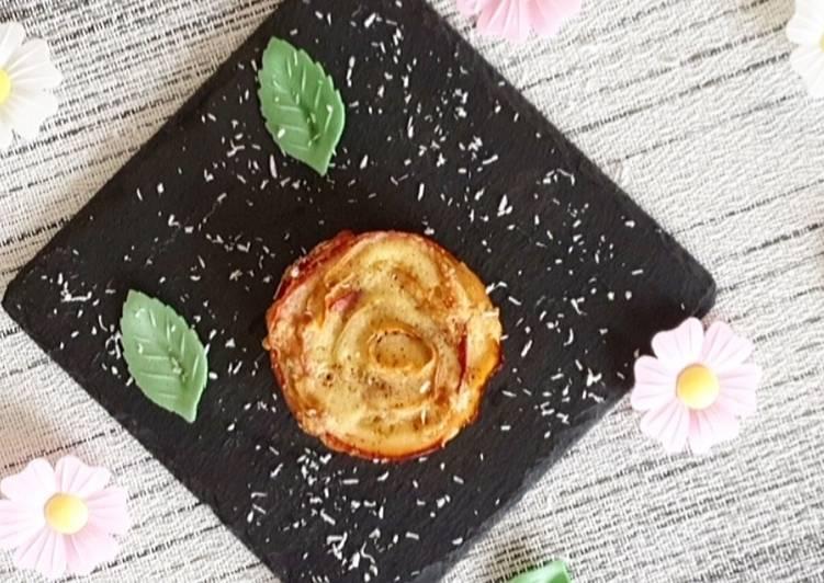 Comment Cuisiner Rose de pommes / tartelettes aux pommes ss pâte