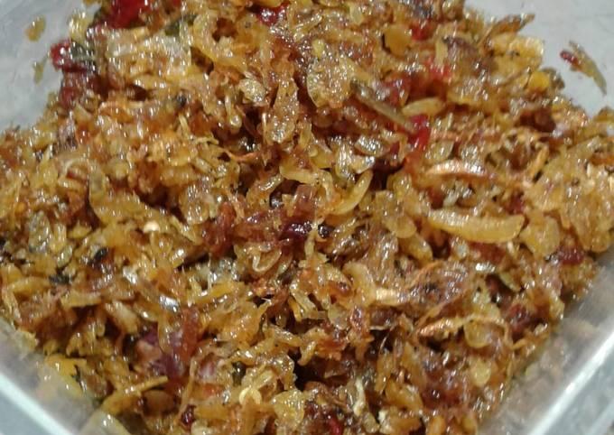 Resep Sambel terasi+udang rebon+bawang merah goreng yang Lezat Sekali