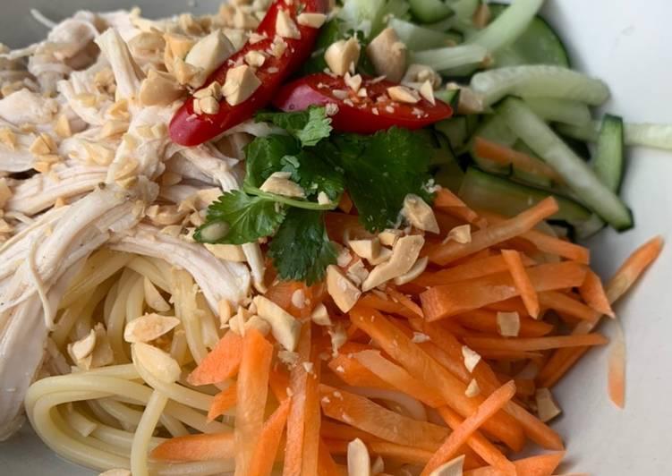 Thai style cold noodle