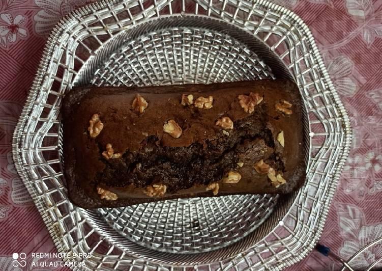 Easiest Way to Prepare Tasty Chocolate banana walnut loaf