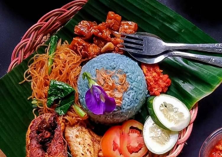 Nasi Uduk Bunga Telang