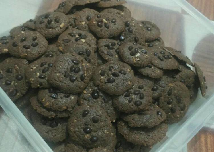 Chocolate cookies putih telur