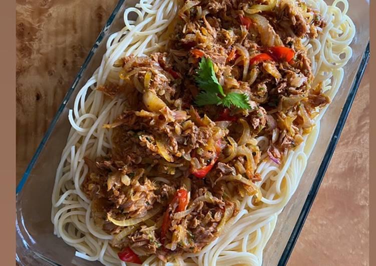 Spagetti tuna pedas