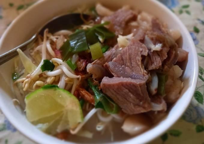 Resep Soto daging endeus sangat gampang metode 5 30 7, Enak Banget
