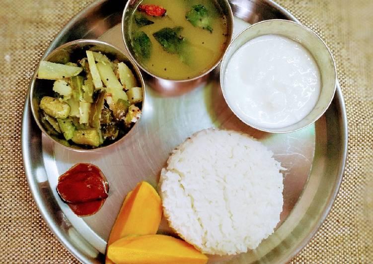 Gsb style simple thali