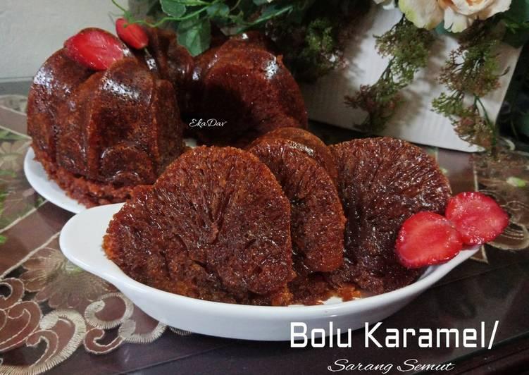 Resep Bolu karamel / Sarang Semut no mixer Mudah