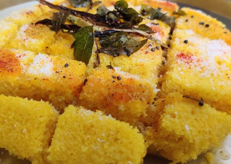 5 Minute Easiest Way to Make Quick Khaman dhokla