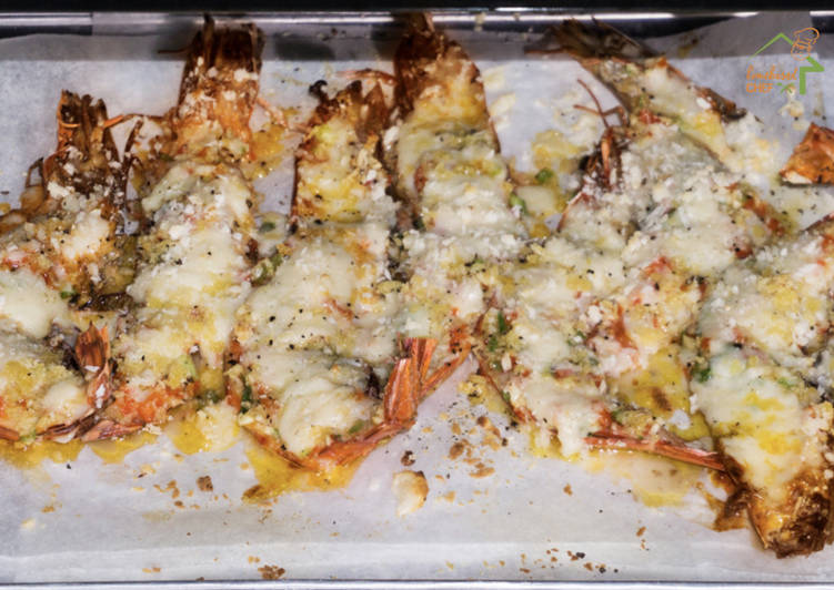 Baked Cheesy Garlic Prawns