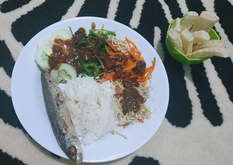 Nasi Pecel (Bibimbap nya Indonesia) 🤭