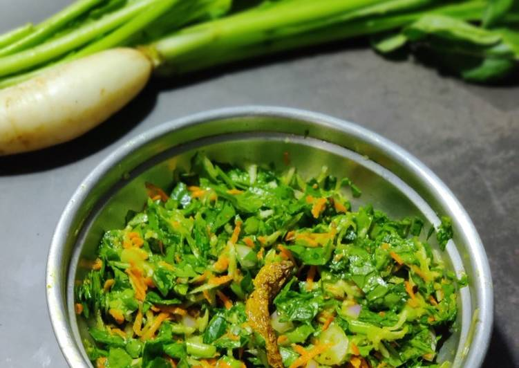 Step-by-Step Guide to Make Quick Radish leaves pachadi