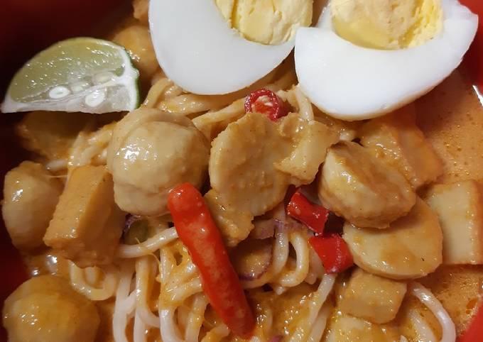 Resep Mee kari fish ball🍜🍜, Bikin Ngiler