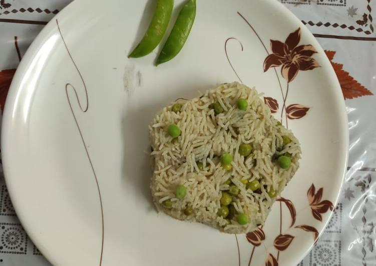 Green peas coconut milk pulao