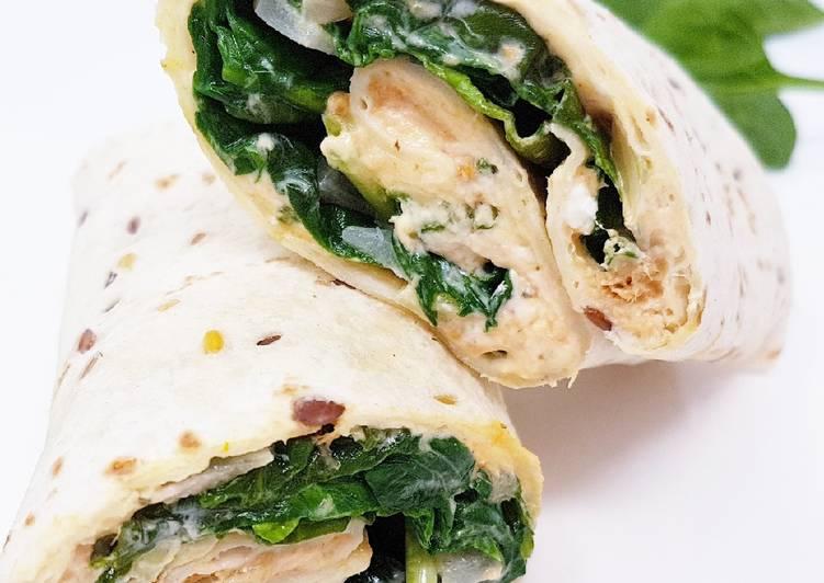 Easiest Way to Prepare Appetizing Wrap chèvre, épinards et thon