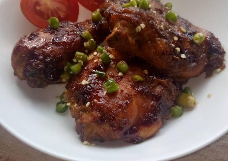 Cara mengolah Ayam kecap manis pedas panggang  yang Enak Banget