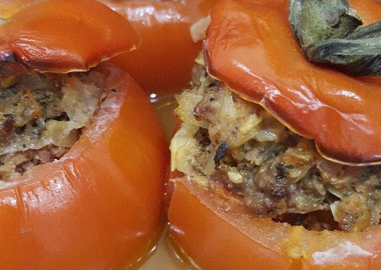 Tomates farcies au curry