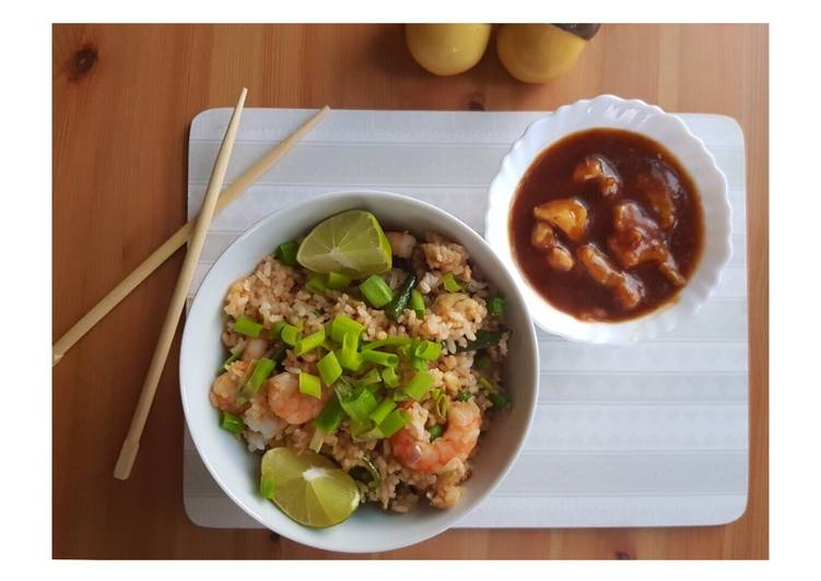 Prawn Fried Rice with Sweet and Sour Cauliflower. (Part 1)