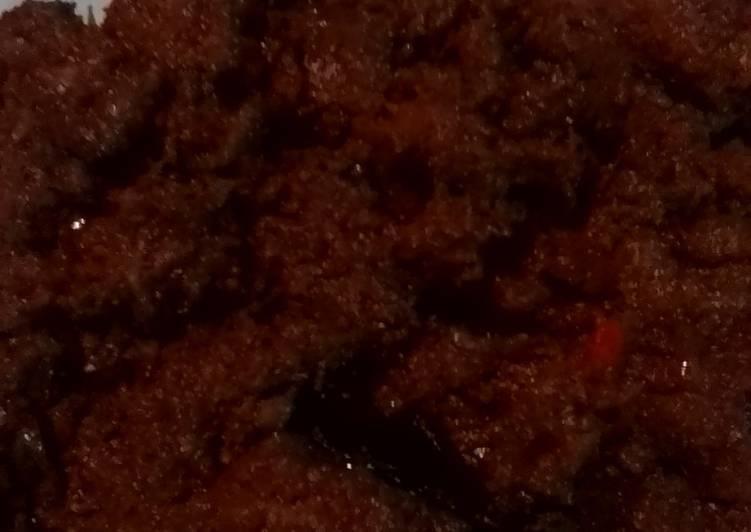 Rendang daging kurban