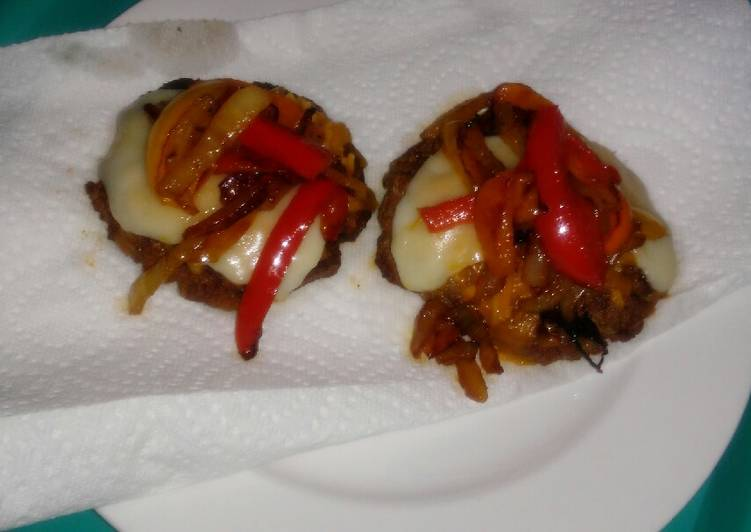 Mini Onion & Pepper Burgers