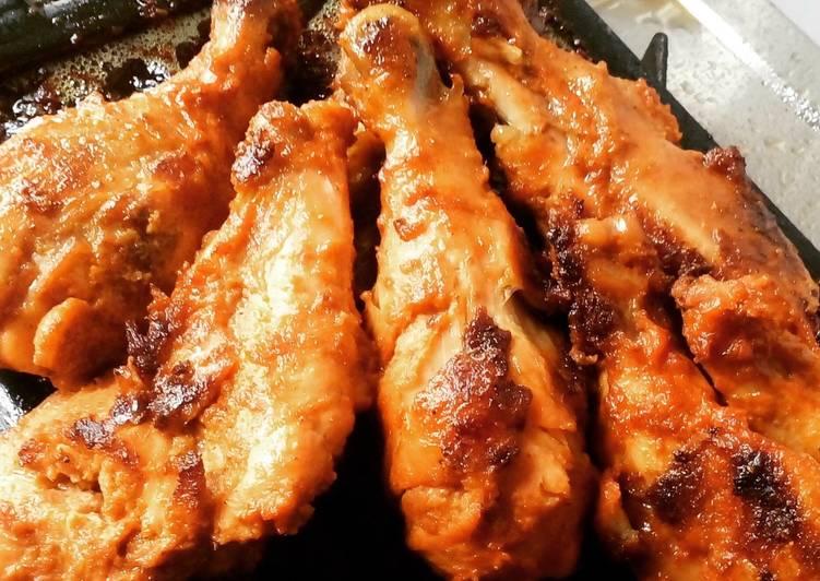 Chicken drumsticks (pan grilled)