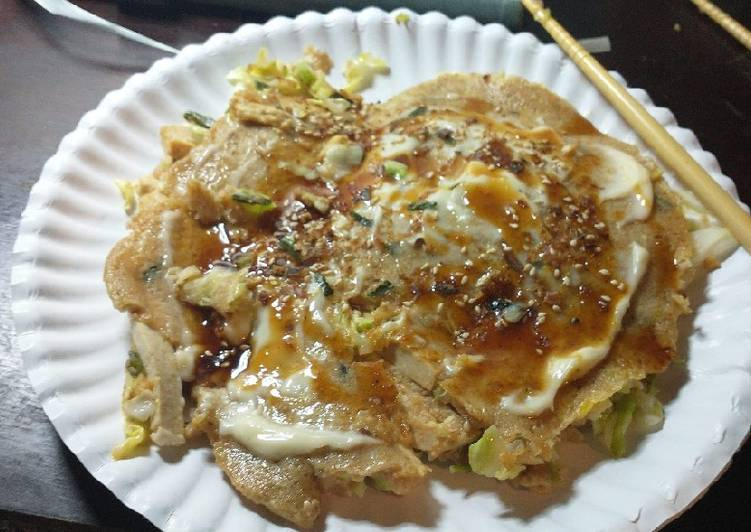 Whole-wheat Okonomiyaki