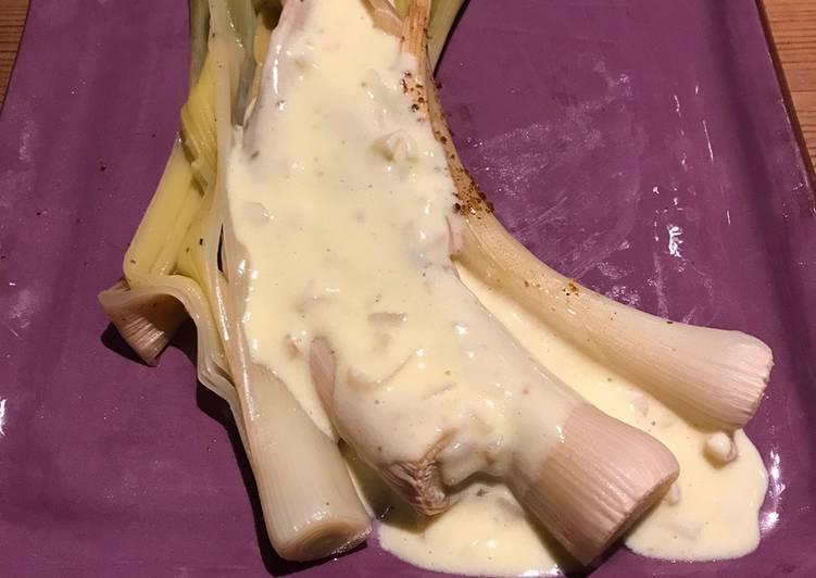 Poireaux rôtis au beurre blanc