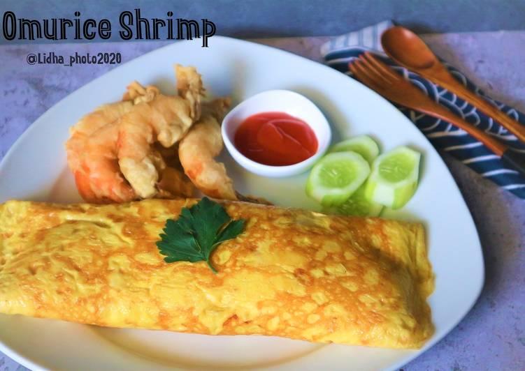 Resep Omurice Shrimp Paling Mudah