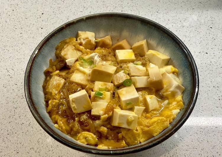 How to Prepare Award-winning Tofudon (tofu rice bowl)