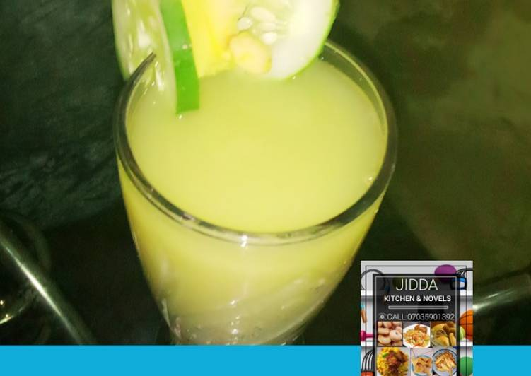 Step-by-Step Guide to Prepare Quick Cucumber and ginger juice